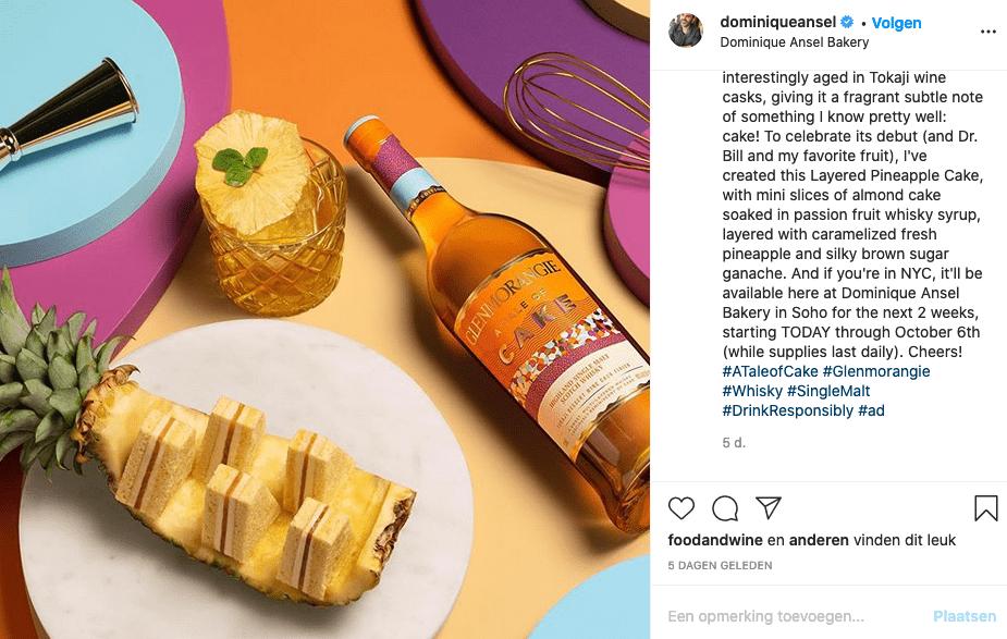 Dominique Ansel uit New York maakt speciale donut met whiskey van Glenmorangie