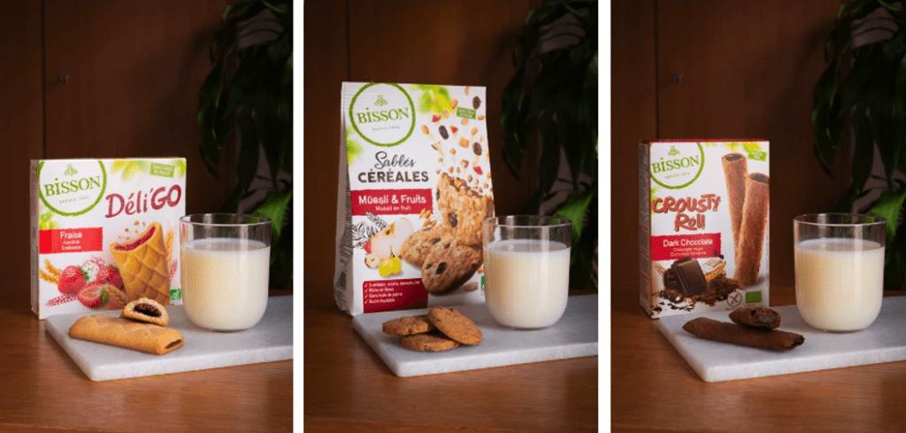 9 nieuwe biologische Bisson-koekjes
