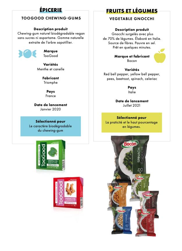 Épicerie et panification, Fruits et légume
